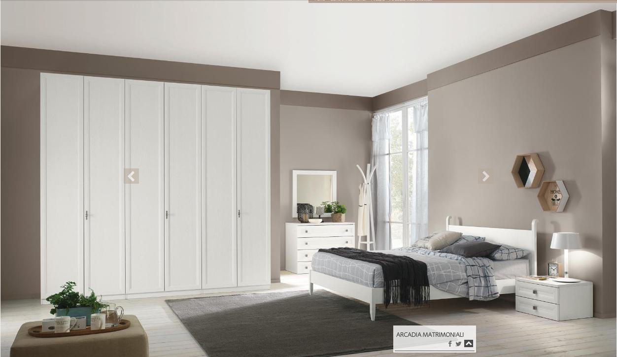 CAMERA DA LETTO DAFNE (DF100) | Treglia Bianco Casa