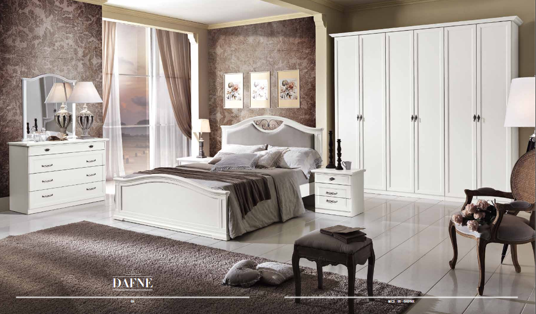 Camera da letto dafne df100 treglia bianco casa for Mobili fazzini catalogo