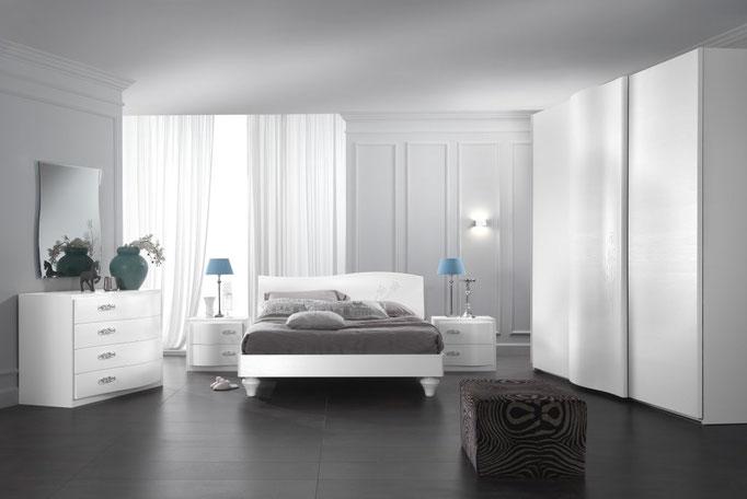 Camera da letto gierre laura treglia bianco casa for Camere da letto prezzi bassi