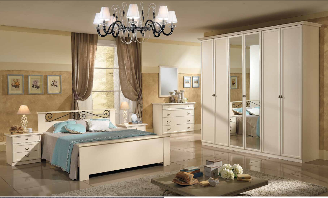Camera da letto ninfea nf014 treglia bianco casa for Mobili fazzini catalogo