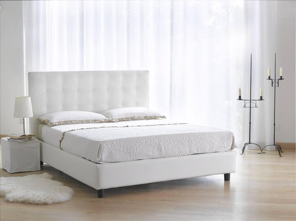 Letto diamante treglia bianco casa - Mirabello mobili ...